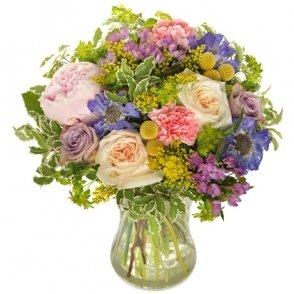Vrolijke bloemen boeket middel